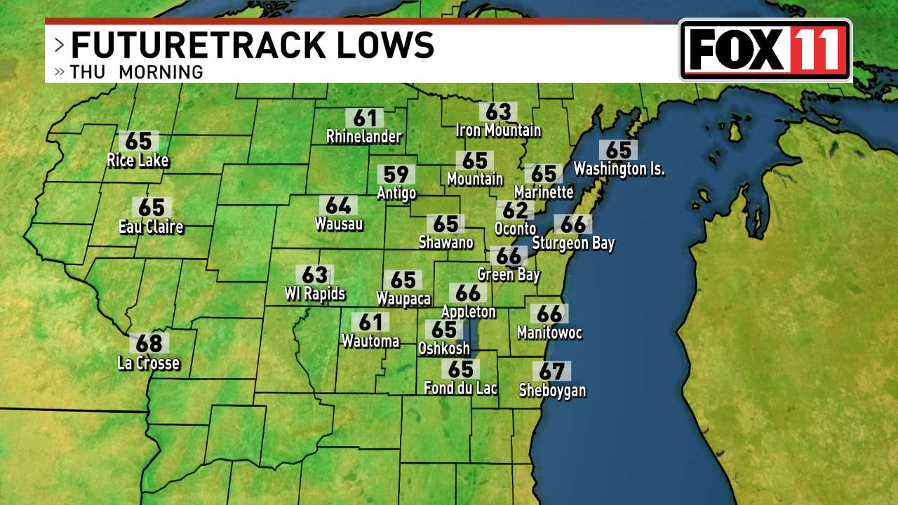 Green Bay Maps News Weather Sports Breaking News WLUK - Us weather map lows