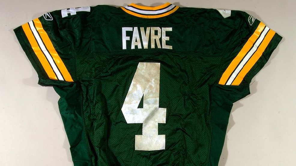 the latest 31012 7faac Favre memorabilia up for auction day before Super Bowl | WLUK