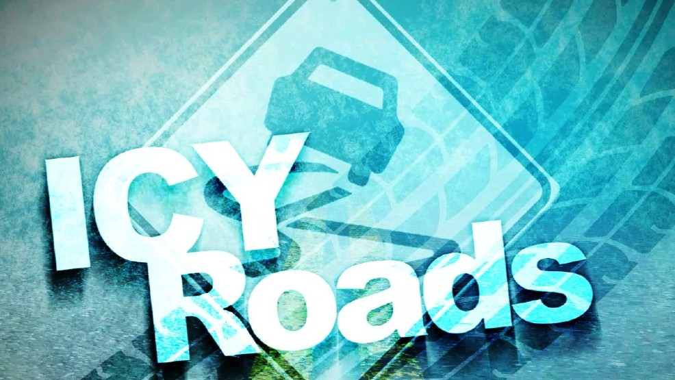 Image result for icy road warning