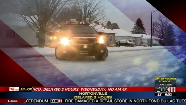 FOX 11 Storm Chaser checks road conditions   WLUK