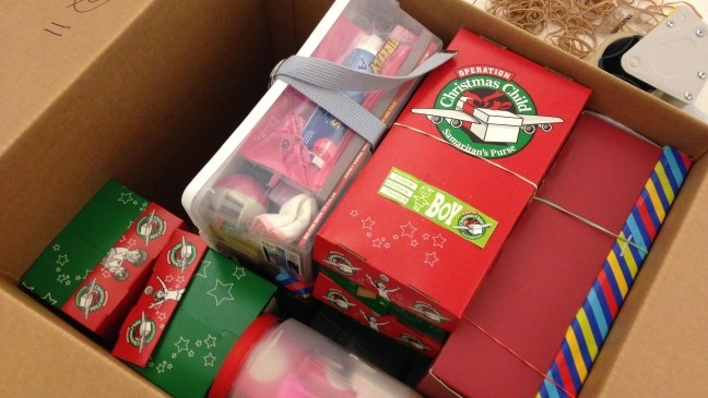 Christmas Child Boxes.Operation Christmas Child In Green Bay Wluk